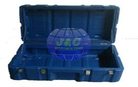 China Plastic Military Roto Molded Cases With Eva Foam Inserted By Aluminum Rotomolded Molds supplier