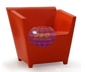 China Plastic Rotational Moulding For Single Person LLDPE Plastic Sofa For Restaurant supplier