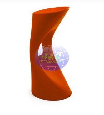 China Modern Plastic Bar Stool Rotational Molding Furniture By Aluminum Molds Supplier