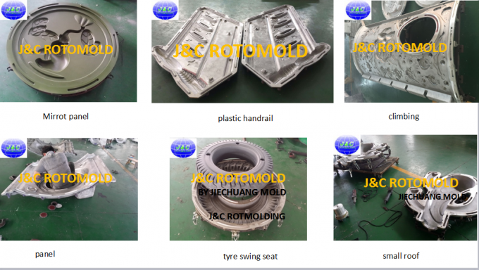 CNC Machine Processed Aluminum Rotomoulding Moulds For Plastic Handrail Making