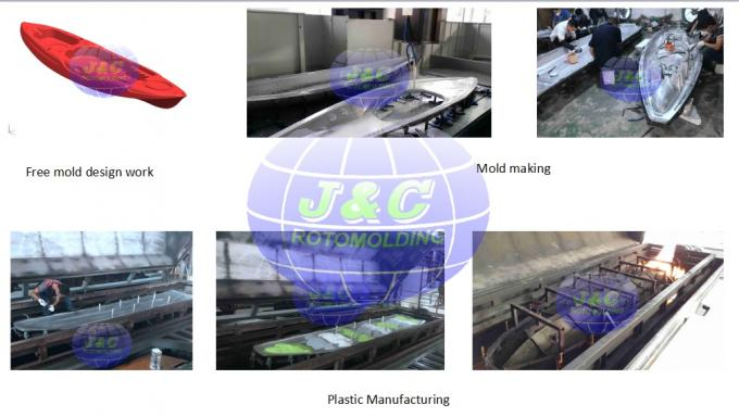 Custom Aluminum Rotomolded Boat Mold / Catamaran Mold Processed By CNC Machine
