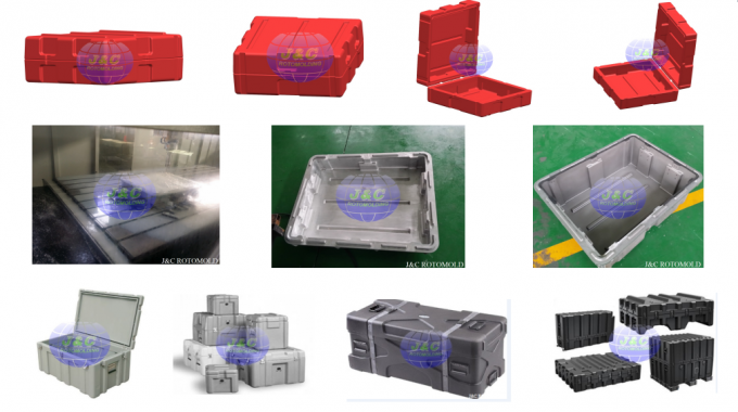 Plastic Military Roto Molded Cases With Eva Foam Inserted By Aluminum Rotomolded Molds