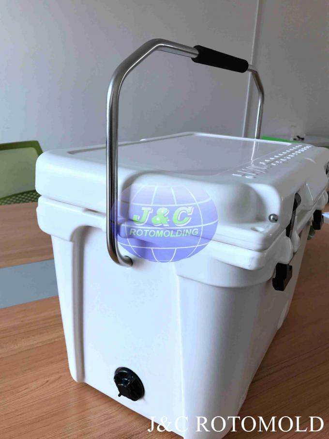 Plastic Rotational Moulding Rotational Molded Cooler Box With Stainless Steel Handle