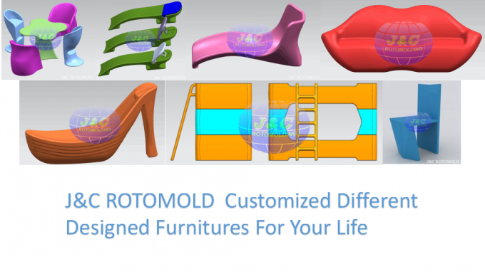 Plastic Rotational Moulding For Furniture Series , Custom Rotational Molding Service