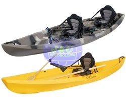 LLDPE And HDPE Roto Molded Plastic Kayak For Single Or Double Person Boat