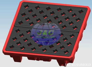 Professional Plastic Rotational Moulding For LLDPE Drum Pallets / Containment Pallets
