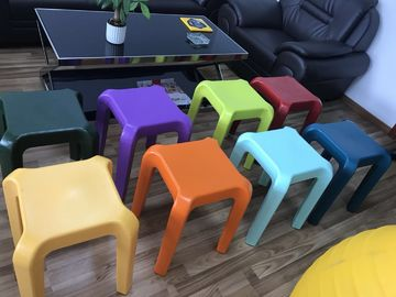 China strong and stable four legs colorful rotomolded plasric stool which can be nested factory