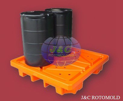 Precision Roto Molded Plastic Drum Pallets , LLDPE Rotational Moulding Products