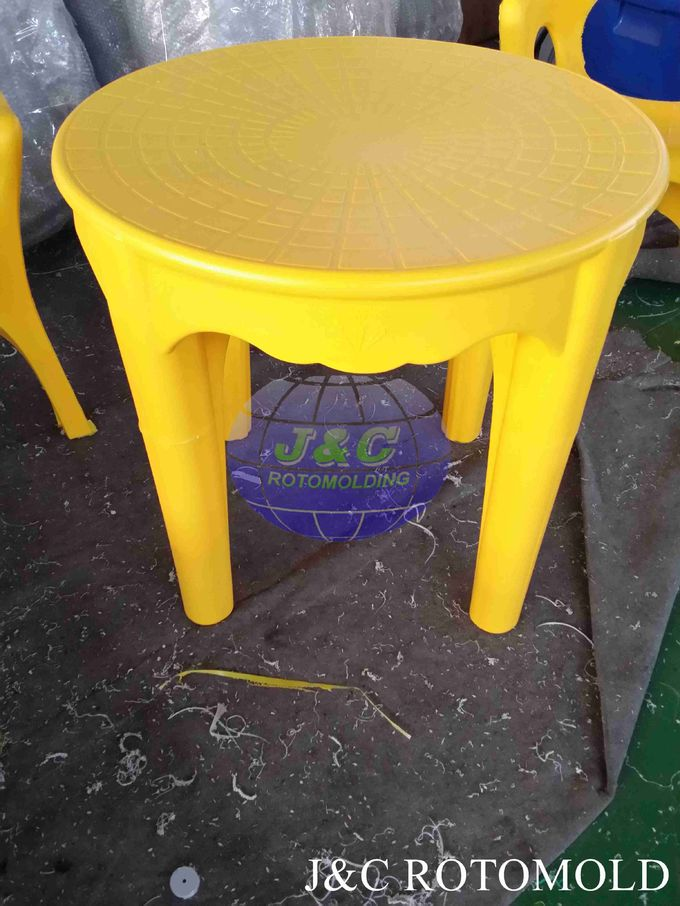 Rotational Moulding Products Round Plastic Table Made By Die Casting Rotomolding Mold