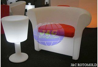 China LLDPE Plastic Rotational Moulding For Roto Molded LED Light Sofa And  Table Parts Supplier