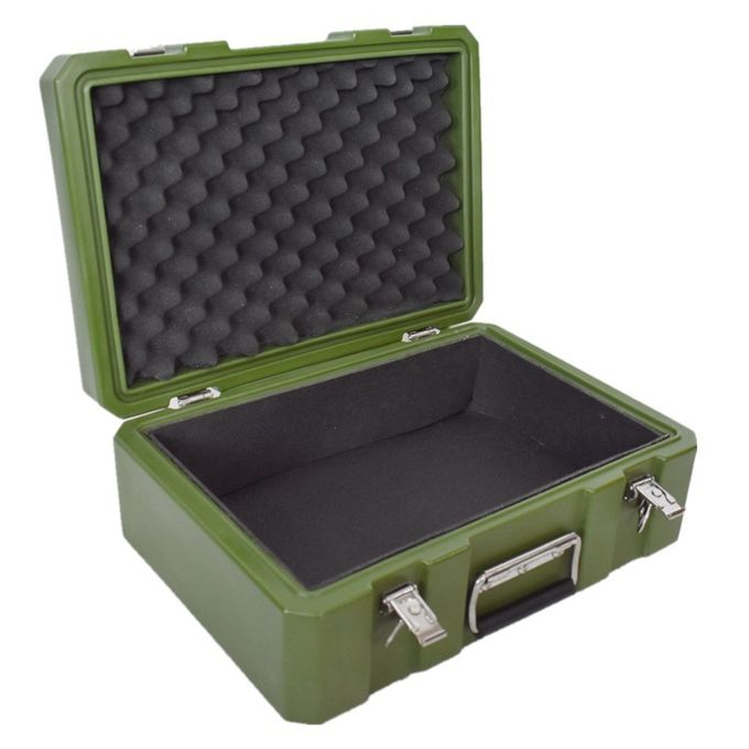 stackable rotomolded military  cases 480*340*190cm customized color with  eva insert